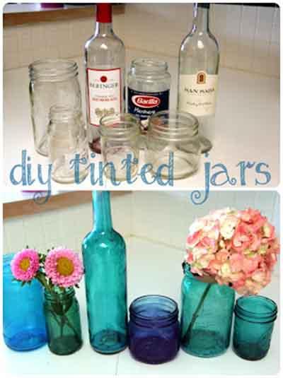DIY Glass Crafts – Tinted Jars