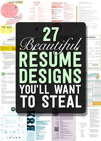 27 beautiful r u00e9sum u00e9 designs you u2019ll want to steal