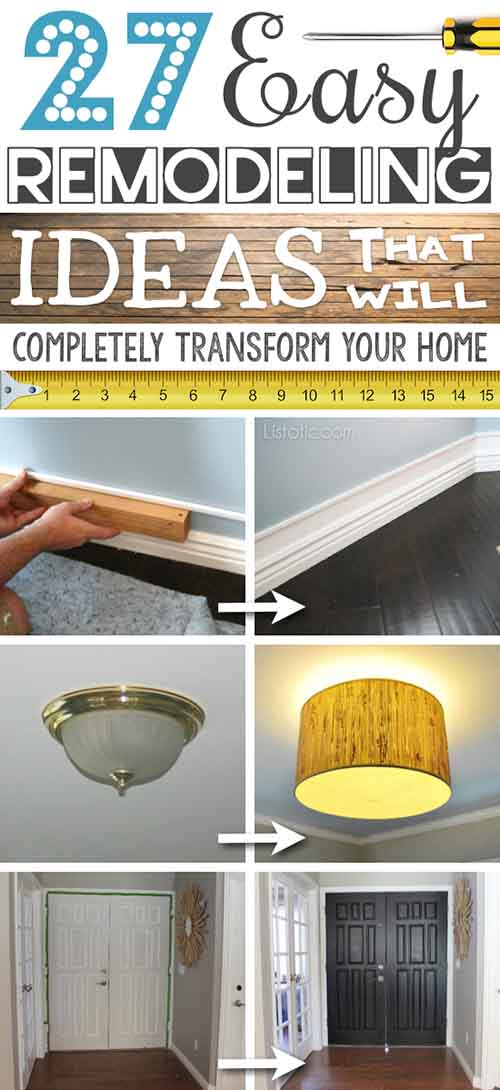 27 Easy Remodeling Projects That Will Completely Transform ...