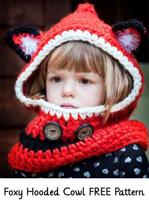 Foxy Hooded Cowl Free Pattern Lil Moo Creations