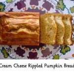 Cream Cheese Rippled Pumpkin Bread