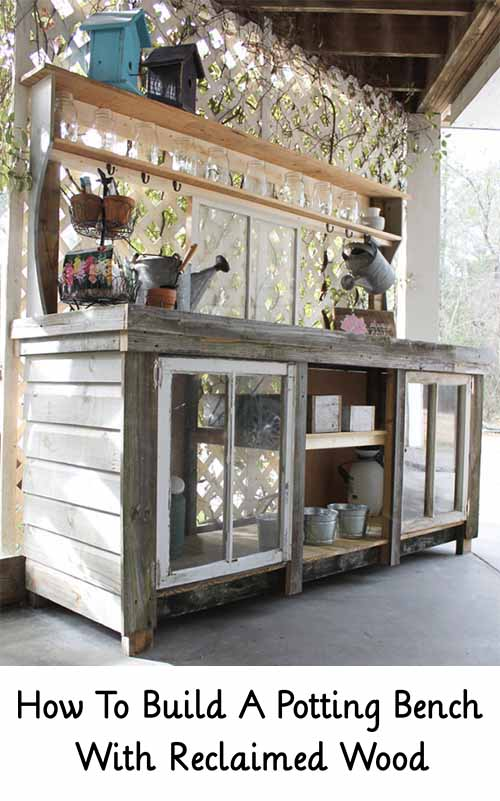 How To Build A Potting Bench With Reclaimed Wood Lil Moo Creations
