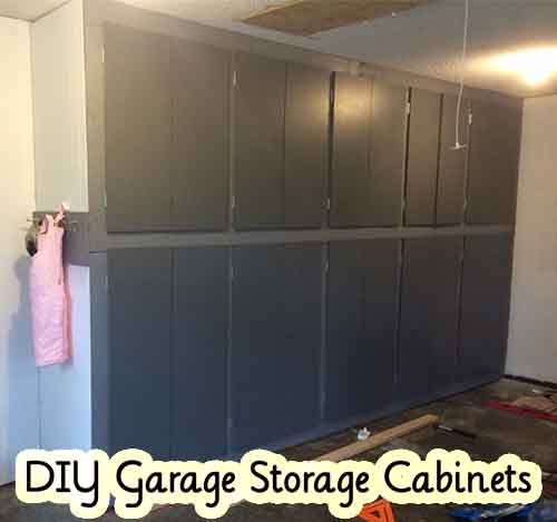DIY Garage Storage Cabinets - Lil Moo Creations