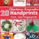 Christmas Handprint & Footprint Crafts (Keepsakes)
