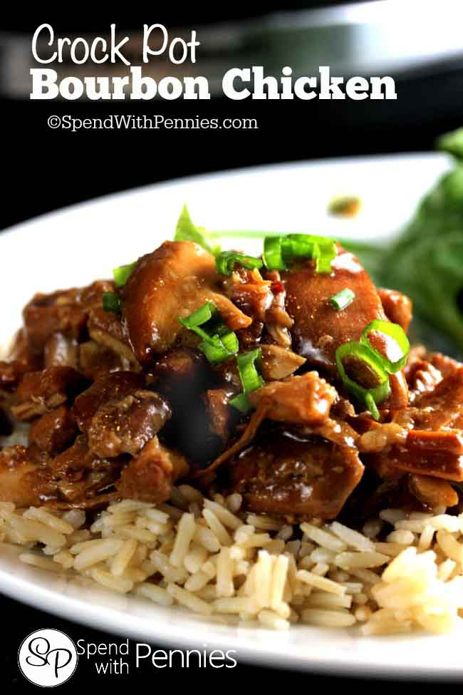 Bourbon Chicken In The Crock Pot Lil Moo Creations