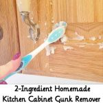 2-Ingredient Homemade Kitchen Cabinet Gunk Remover