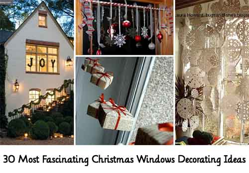 30 Most Fascinating Christmas Windows Decorating Ideas. Image woohome.com & 30 Most Fascinating Christmas Windows Decorating Ideas - Lil Moo ...