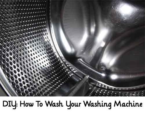 how to wash your washing machine