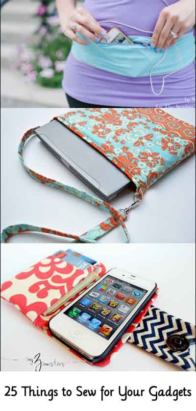 25 things to sew for your gadgets lil moo creations for Diy gadgets