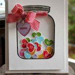 Candy Hearts Shaker Card