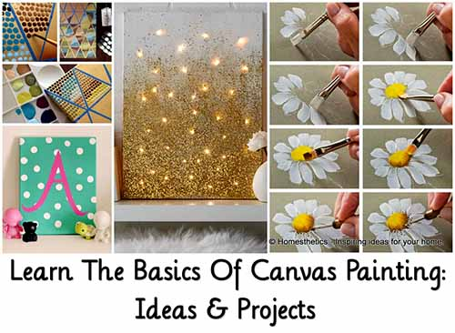 learn the basics of canvas painting ideas projects