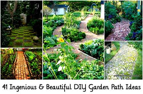 diy garden path ideas image homestheticsnet