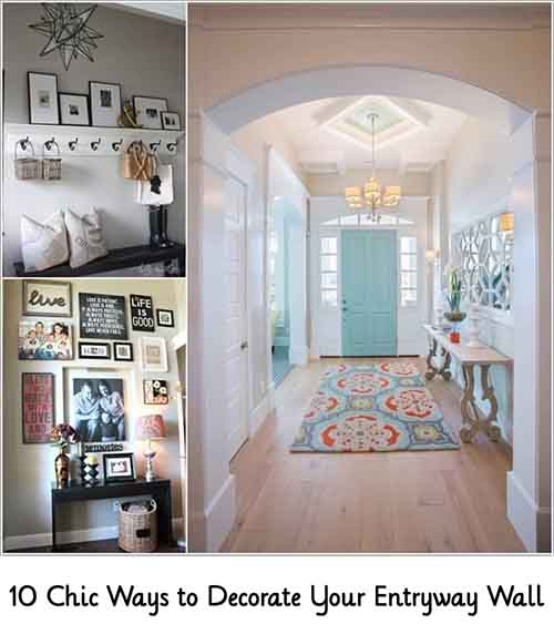 10 chic ways to decorate your entryway wall lil moo creations - Ways to decorate your walls ...