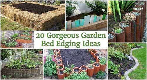 20 Gorgeous Garden Bed Edging Ideas Lil Moo Creations