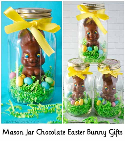 Mason jar chocolate easter bunny gifts lil moo creations mason jar chocolate easter bunny gifts image craftymorning negle Choice Image