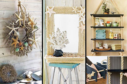 36 breezy beach inspired diy home decorating ideas lil for Ocean themed interior design