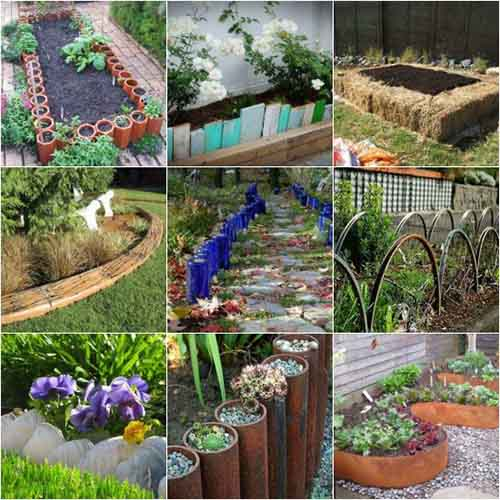 18 gardening bed edging ideas that are easy to do lil for Simple garden edging ideas