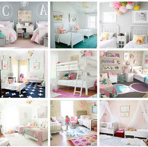 18 Shared Girl Bedroom Decorating Ideas - Lil Moo Creations