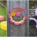 10 Colorful Garden Crafts to Make from Old Tires
