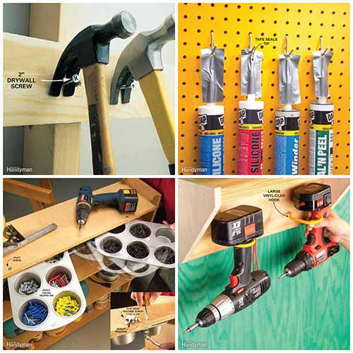 Idees And Solutions: Quick And Clever Workshop Storage Solutions