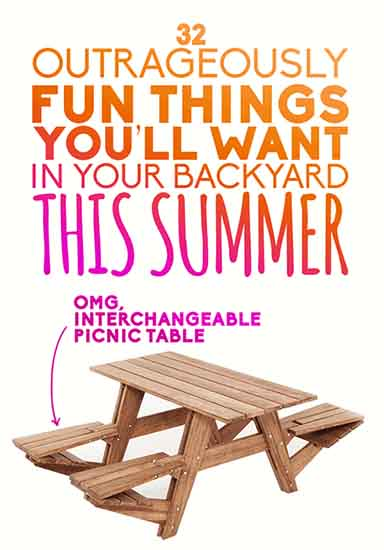 32 outrageously fun things you ll want in your backyard this summer lil moo creations. Black Bedroom Furniture Sets. Home Design Ideas