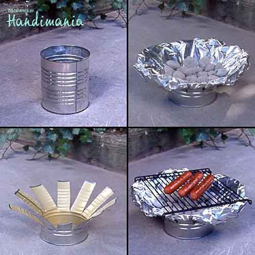 Diy tin can grill lil moo creations for Large tin can crafts