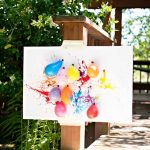 Balloon Dart Painting with Kids