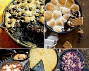 23 awesome diy industrial furniture designs lil moo for Cast iron skillet camping dessert recipes