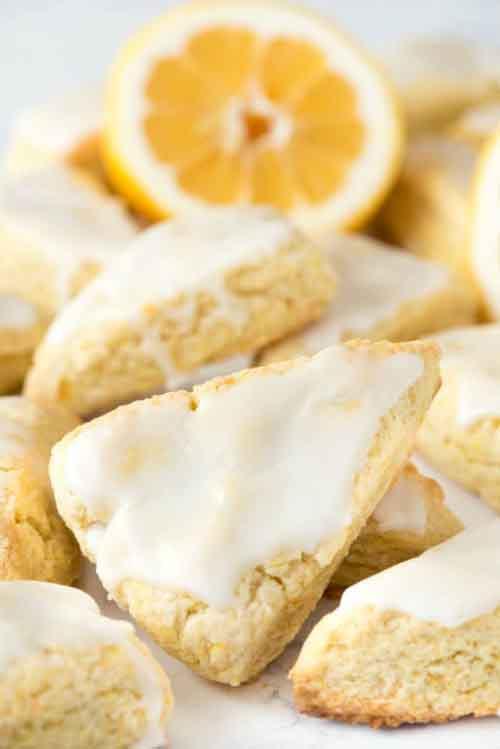 Mini Lemon Scones - Lil Moo Creations