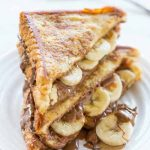 Chocolate Peanut Butter Banana Stuffed French Toast