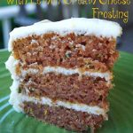 Zucchini Cake and Lemon Cream Cheese Frosting