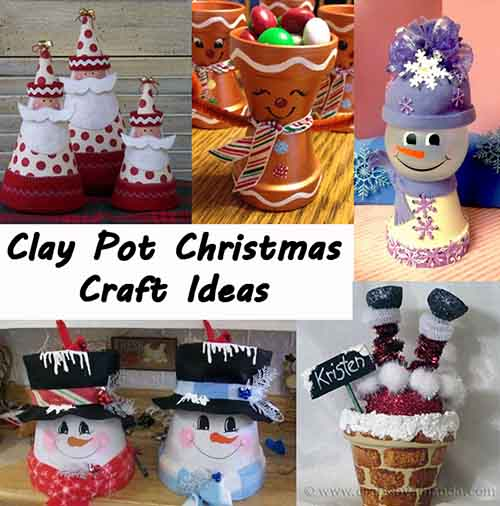 Clay pot christmas crafts lil moo creations for Small terracotta pots crafts