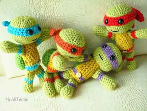 Free Crochet Pattern: Teenage Mutant Ninja Turtles - Lil ...