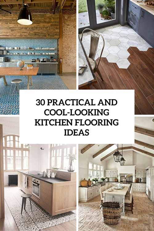30 practical and cool looking kitchen flooring ideas lil for Cool kitchen floor ideas