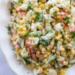 Cauliflower, Corn and Cucumber Salad Recipe