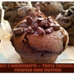 Triple Chocolate Pumpkin Mini Muffins
