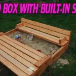 SAND BOX WITH BUILT-IN SEATS