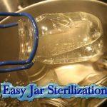 Easy Jar Sterilization