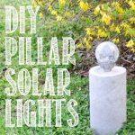 DIY Concrete Pillar Solar Light