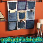 upcycling project for denim pockets