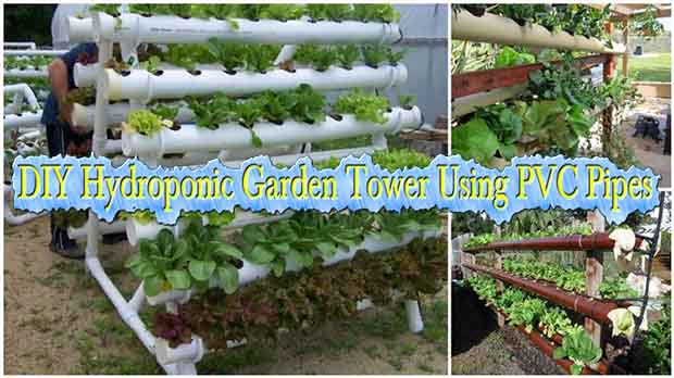 Diy hydroponic garden tower using pvc pipes lil moo for Pvc pipe garden projects