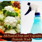 All-Natural Fruit and Vegetable Pesticide Wash