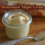Homemade Maple Cream