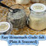 Easy Homemade Garlic Salt (Plain & Seasoned)