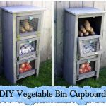 DIY Vegetable Bin Cupboard