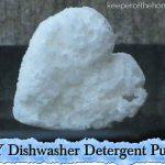 DIY Dishwasher Detergent Pucks