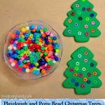 Playdough and Pony Bead Christmas Trees