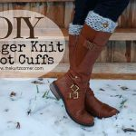 DIY Finger Knit Boot Cuffs