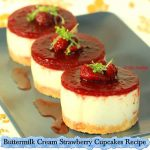 Buttermilk Cream Strawberry Cupcakes Recipe