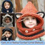 Cute As A Button Crochet Cowls (Pattern)